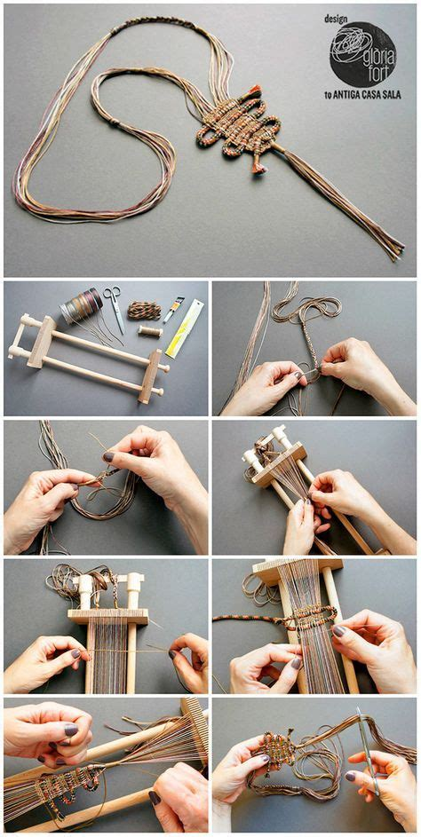 DIY Woven NecklaceMake this unique DIY Woven Braided Cord