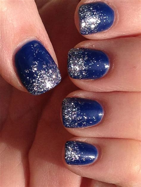 Dallas Cowboys Nail Design - Ombré Glitter Nails for any